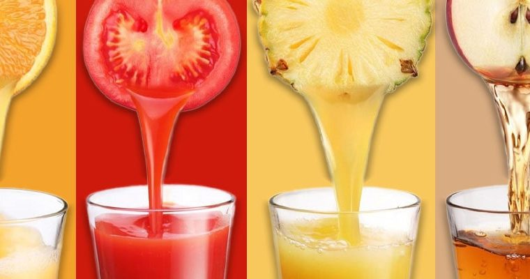 Los colores de los zumos de frutas y sus propiedades